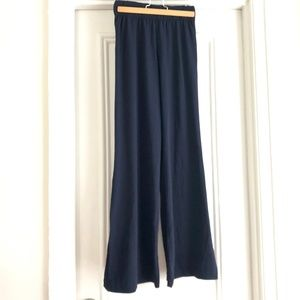 Two Pair Hight-Waist Wide-Leg Pants (Navy + Black)